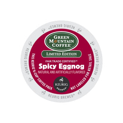 Green Mountain Coffee Spicy Eggnog K-Cup® Pods 96ct Seasonal