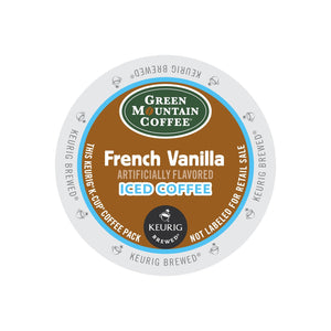 Green Mountain French Vanilla Brew Over Ice Coffee K-Cup® Pods 22ct