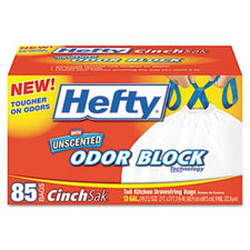 Hefty 13 Gallon Cinch Sak Tall Kitchen and Trash Bags 85ct Box