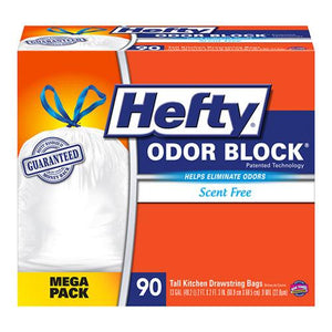 Hefty 13 Gallon Cinch Sak Tall Kitchen and Trash Bags 90ct Box