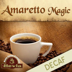 Hevla Amaretto Magic Decaf Low Acid Ground Coffee 12oz Bag