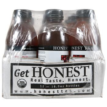 Honest Tea Pomegranate White Tea with Acai 12 16.9oz Bottles Side