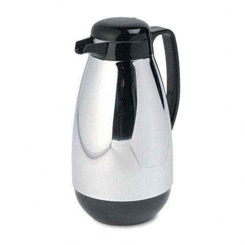 Hormel Chrome-Plated Vacuum Glass Lined Carafe 1 Liter Capacity