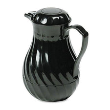 Hormel Swirl Design 64oz Black Poly Lined Coffee Carafe