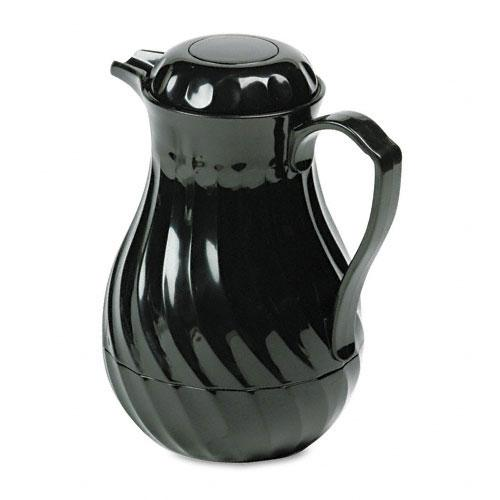 Hormel Swirl Design Black Poly Lined Carafe 64oz Capacity