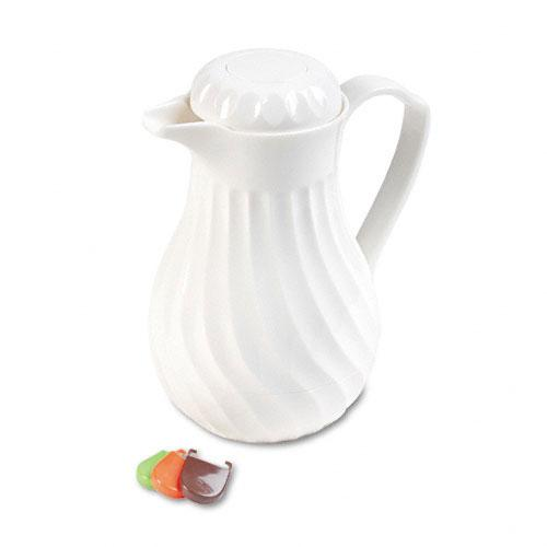 Hormel Swirl Design White Poly Lined Carafe 40oz Capacity