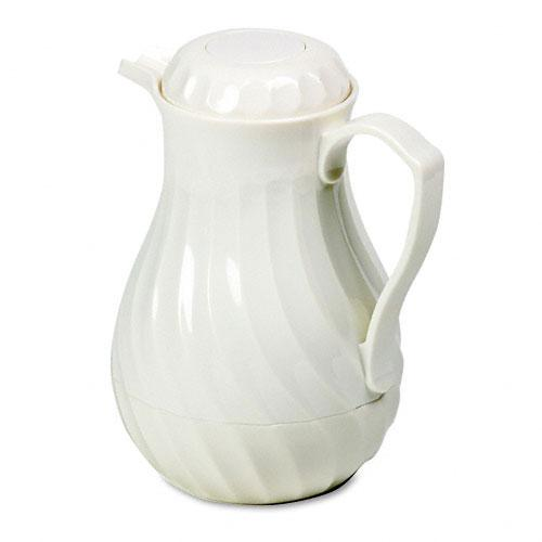 Hormel Swirl Design White Poly Lined Carafe 64oz Capacity