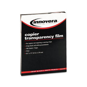 Innovera Clear Transparency Film Letter Size for Copiers 100ct Box