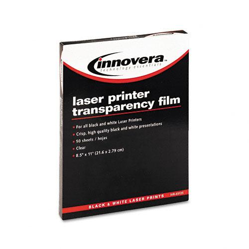 Innovera Clear Transparency Film Letter Size for Laser Printers 50ct Box