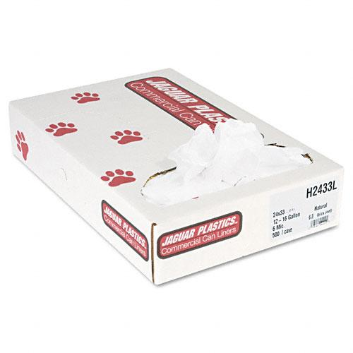 Jaguar Plastics 15 Gallon Regular Grade Can Liners 24