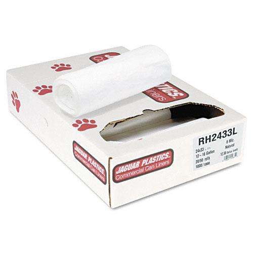 "Jaguar Plastics 24"" x 33"" 15 Gallon Liners 20 Rolls of 50 Bags"