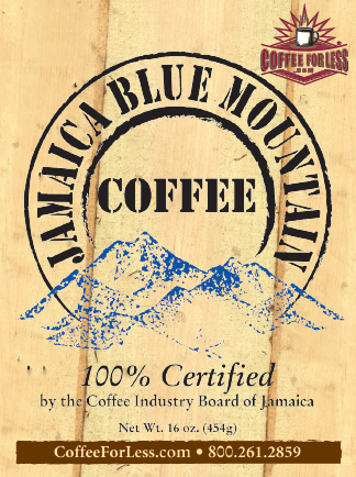 Jamaica Blue Mountain Coffee Beans 1LB Bag