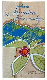 Jamaica Blue Mountain Blue Ridge Blend Coffee Beans 12oz Bag
