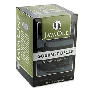JavaOne Colombian Decaffeinated Coffee Pods 14ct Box