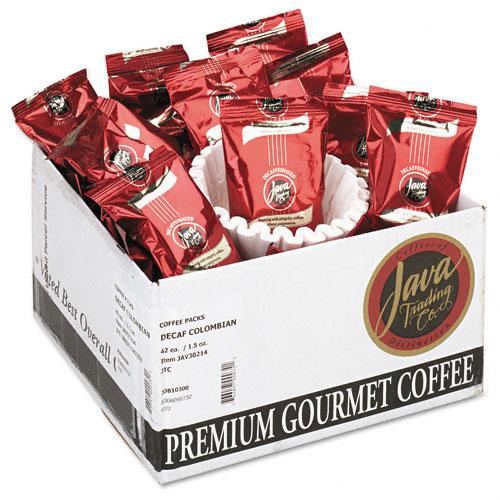 JavaOne Colombian Decaffeinated Ground Coffee 42 1.5oz Bags