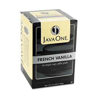 JavaOne French Vanilla Coffee Pods 14ct Box
