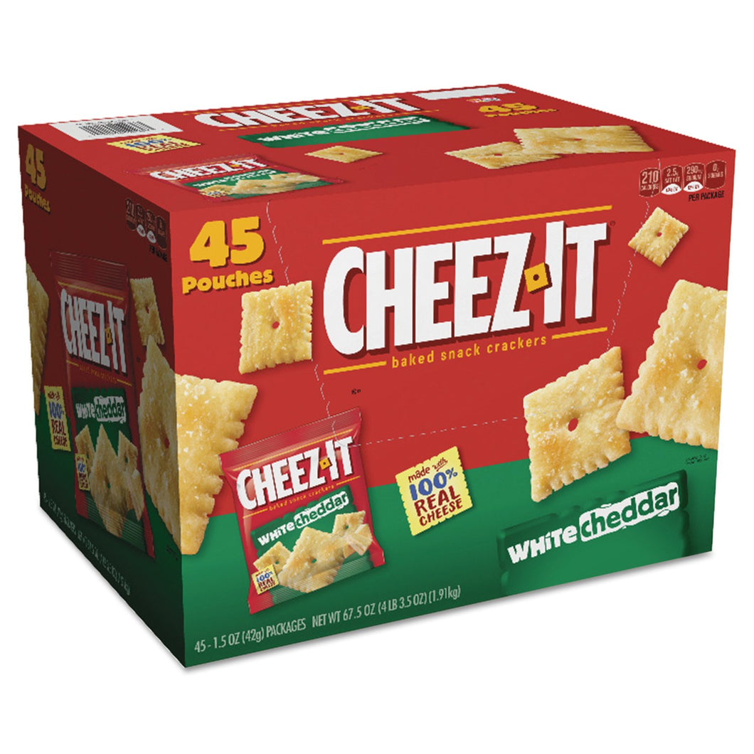 Sunshine Cheez-it Crackers, 1.5 oz Bag, White Cheddar, 45/Carton