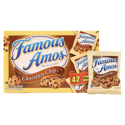 Kellogg's Famous Amos Chocolate Chip Cookies Snack Pack 42ct