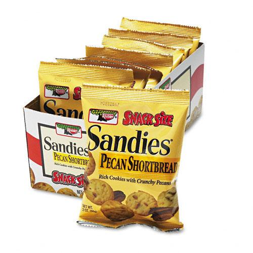 Keebler Sandies Pecan Shortbread Mini Cookies 2oz Snack Packs 8ct Box