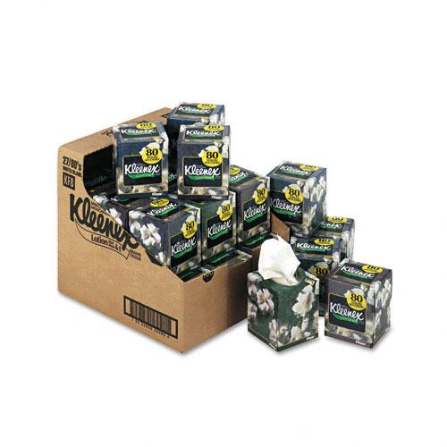 Kleenex Three-Ply Lotion Facial Tissue in Pop-Up Cube 27 80ct Boxes