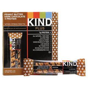 KIND Plus Nutrition Boost Bar Peanut Butter Dark Chocolate with Protein 12ct