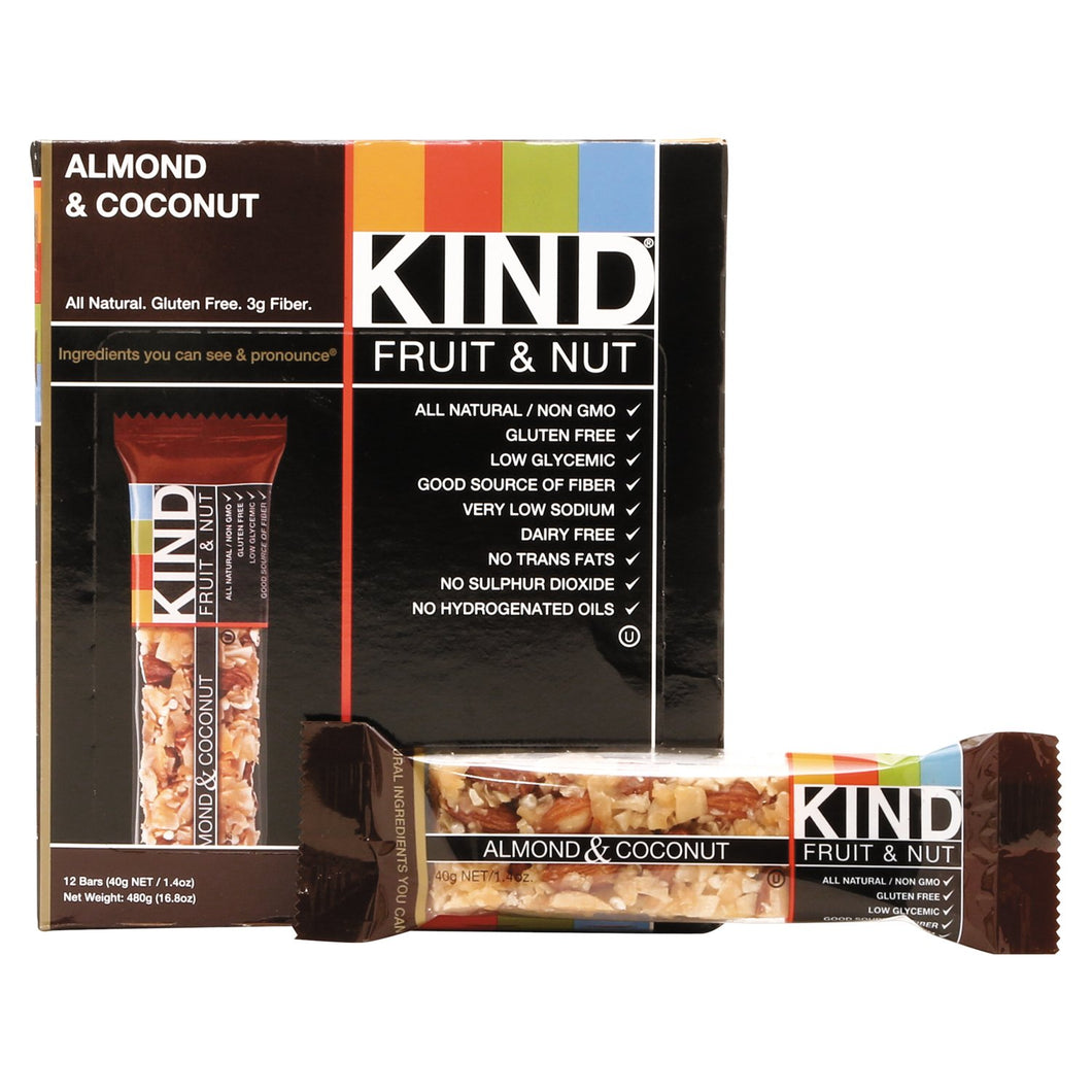 KIND Fruit and Nut Bars Almond and Coconut 12ct