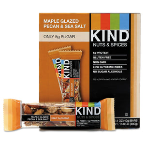 KIND Nuts and Spices Bar Maple Glazed Pecan and Sea Salt 12ct