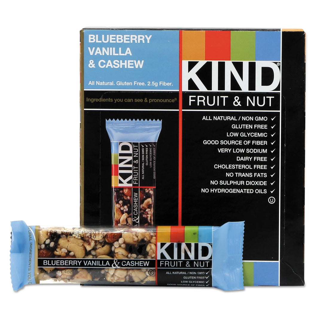 KIND Fruit and Nut Bars Blueberry Vanilla and Cashew 12ct