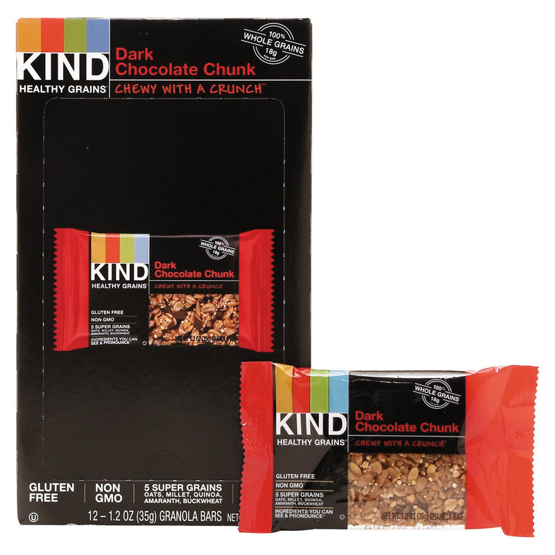 KIND Healthy Grains Bar Dark Chocolate Chunk 12ct