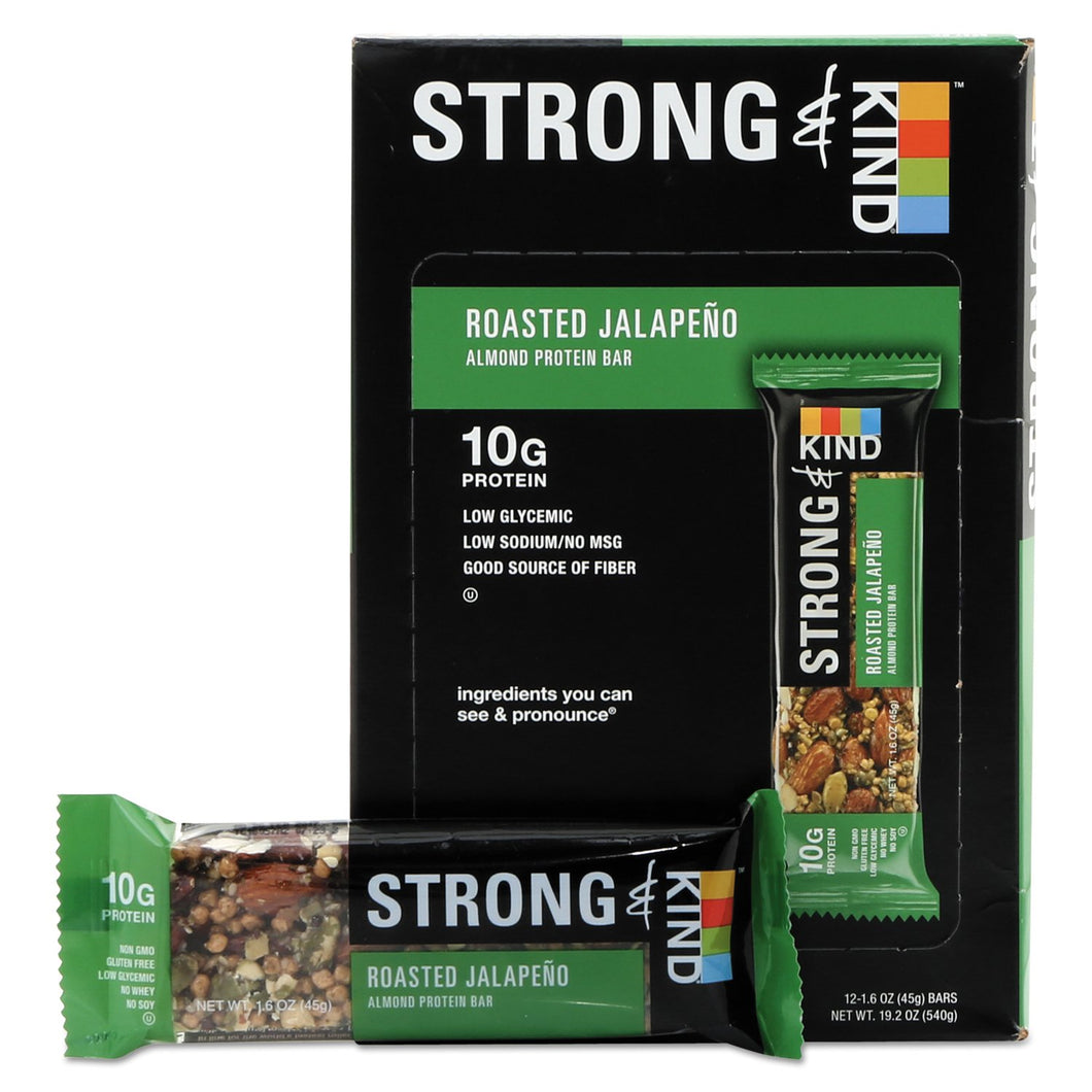 KIND STRONG and KIND Bars Roasted Jalapeno Almond 12ct
