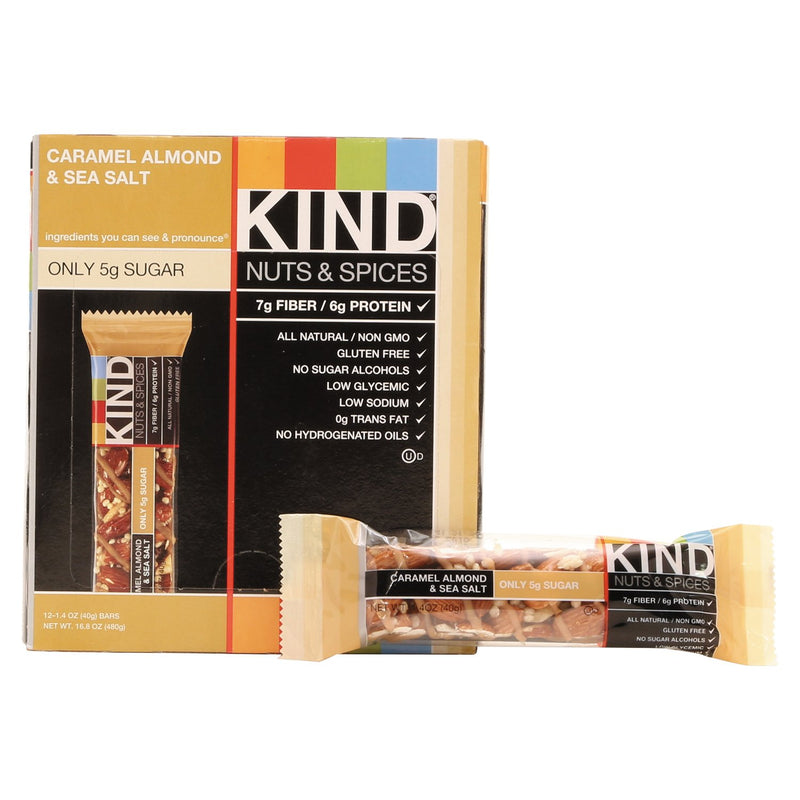 KIND Nuts and Spices Bar Caramel Almond and Sea Salt 12ct