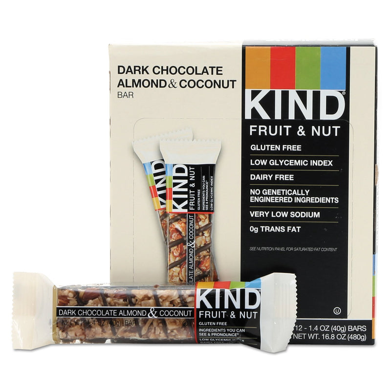 KIND Fruit and Nut Bars Dark Chocolate Almond & Coconut 12ct