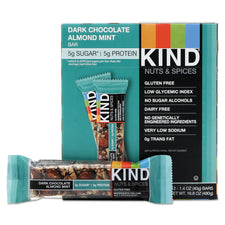 KIND Nuts and Spices Bar Dark Chocolate Almond Mint 12ct