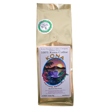 Kona Premium Private Reserve Roast Coffee Beans 1LB Bag