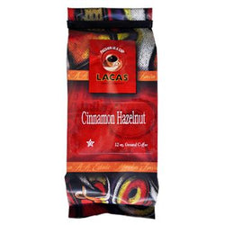 Lacas Coffee Cinnamon Hazelnut Coffee Beans 12oz Bag
