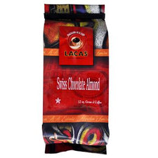Lacas Coffee Swiss Chocolate Almond Coffee Beans 12oz Bag
