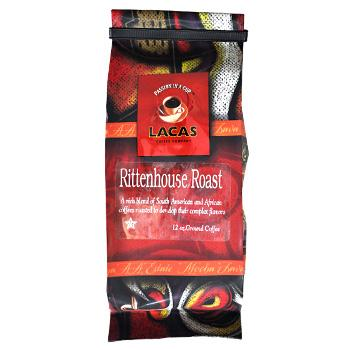 Lacas Rittenhouse Roast Coffee Beans 12oz Bag