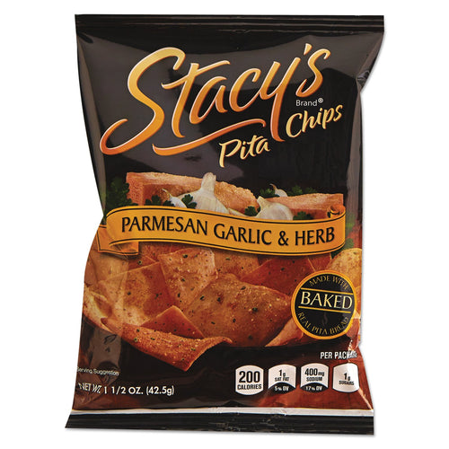 Stacy's Pita Chips Parmesan Garlic & Herb 24ct