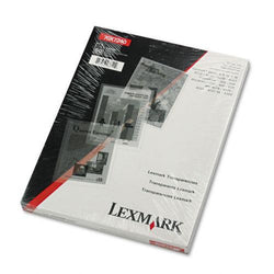 Lexmark Clear Transparency Film Letter Size for Laser Printers 50ct Box