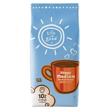Life is Good Happy Medium Ground Coffee 11oz bag