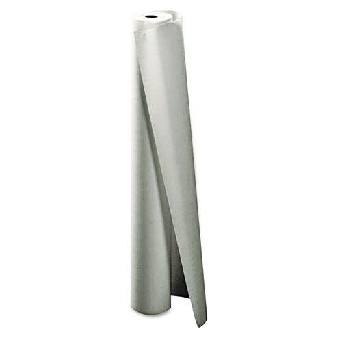 "Little Rapids 40"" x 300' White Caprice Paper Table Cover Roll"
