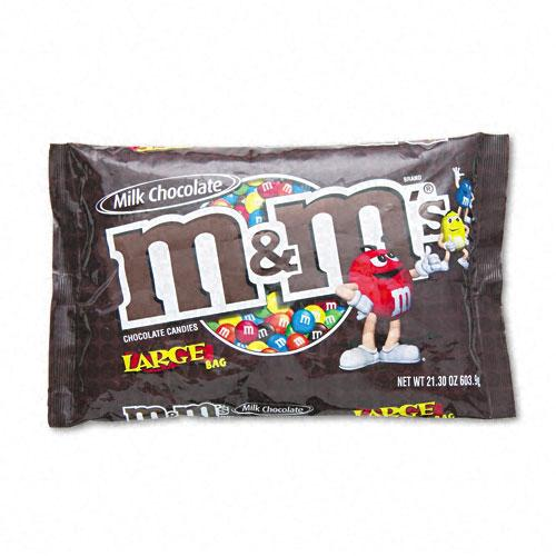 M&M's Milk Chocolate Coated Candy 19.2oz Bag