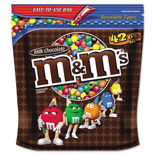 M&M's Milk Chocolate Coated Candy 42oz Bag
