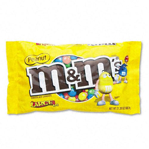 M&M's Milk Chocolate Coated Candy with Peanut Center 19.2oz Bag