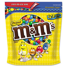M&M's Milk Chocolate Coated Candy with Peanut Center 42oz Bag