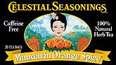 Celestial Seasonings Mandarin Orange Spice Caffeine Free Tea 25ct