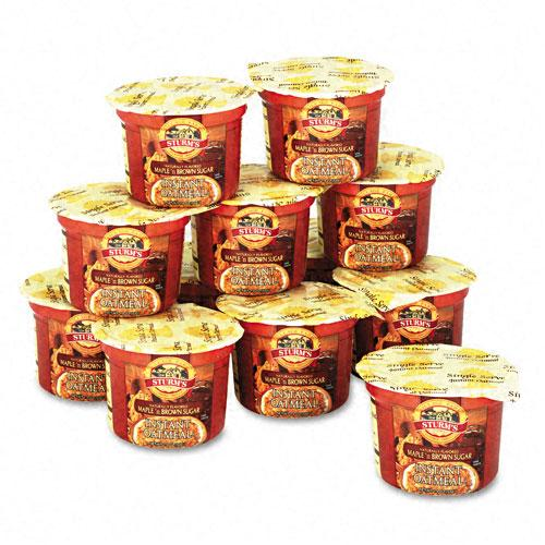Maple Brown Sugar Single-Serve Instant Oatmeal 1.9LB Bowl 12ct Box