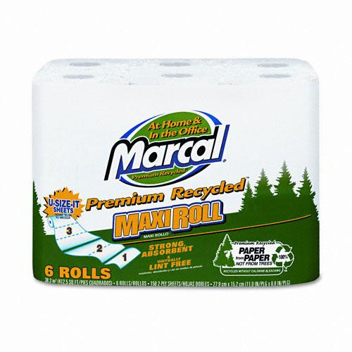 Marcal Perforated Maxi Paper Towel Rolls 6ct
