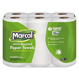 Marcal Perforated Maxi Paper Towel Rolls 24ct