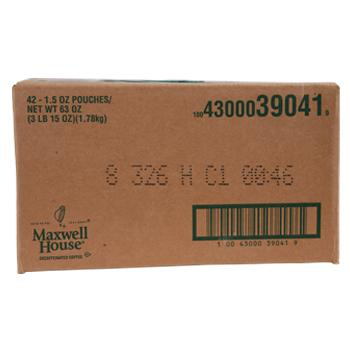 Maxwell House Coffee Decaffeinated House Blend Ground Coffee 42 1.25oz Bags Box